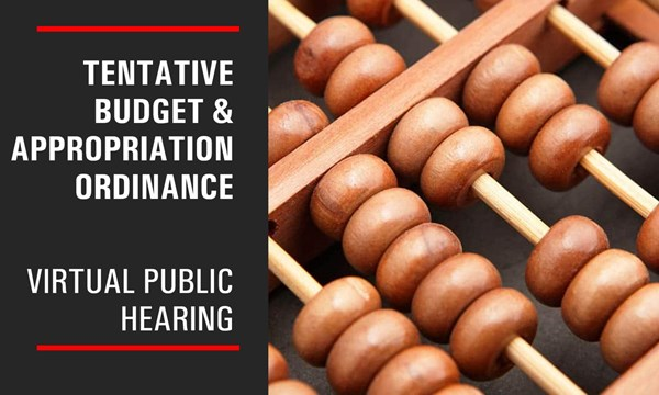 Preview of Virtual Public Hearing Scheduled for FY2021 Tentative Budget & Appropriation Ordinance, June 24, 2020