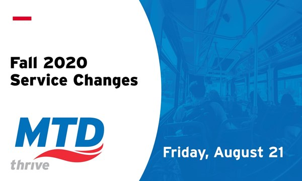 Preview of MTD Fall 2020 Service Changes